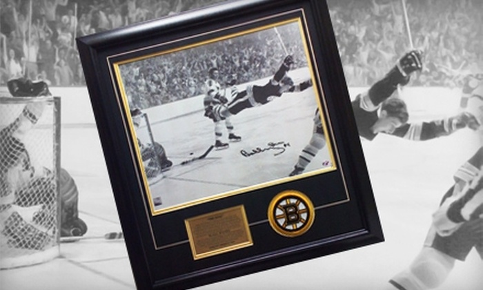 "Powers Collectibles: $269 for a Framed Photo of ""The Dive"" Autographed by Bobby Orr from Powers Collectibles ($538.95 Value)"