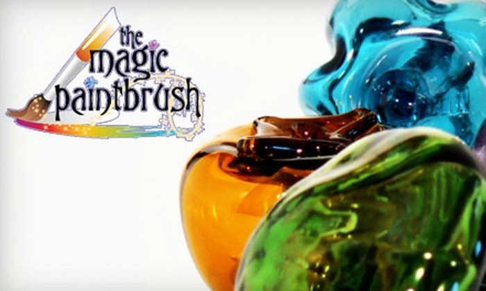 The Magic Paintbrush - San Francisco: $25 for Pottery Painting, Glass Fusing, and More at the Magic Paintbrush