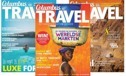 5 of 10 nummers Columbus Travel magazine met extra's, je abonnement stopt automatisch