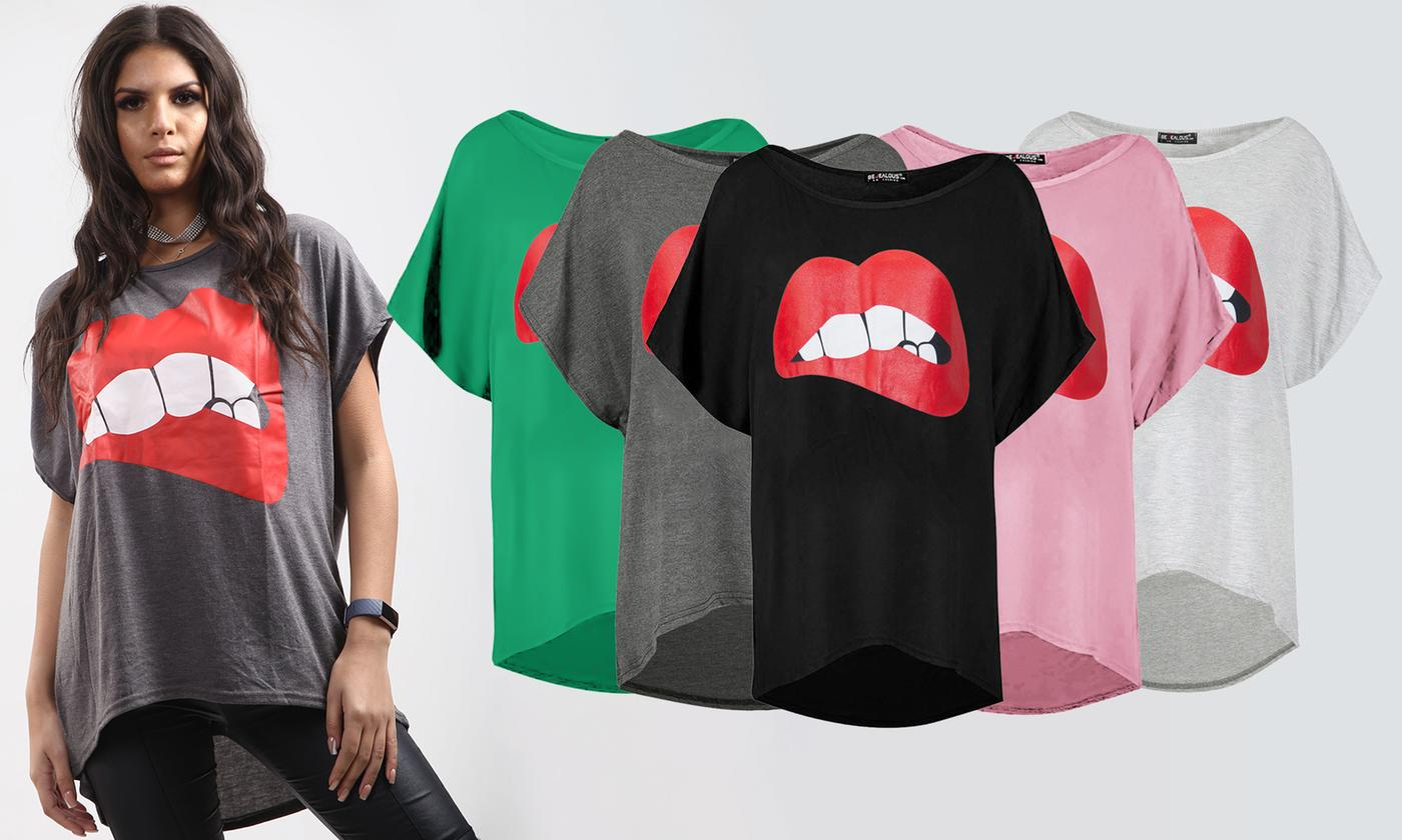 Oops Oversized Lips T-Shirt