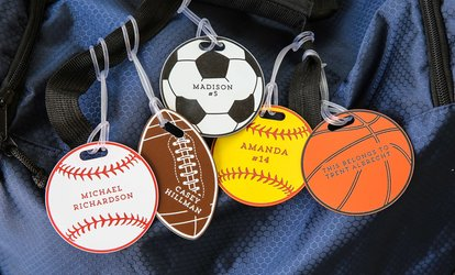 image for One, Two, or Four Personalized Sports Bag Tags from 2712 Designs (Up to 63% Off)