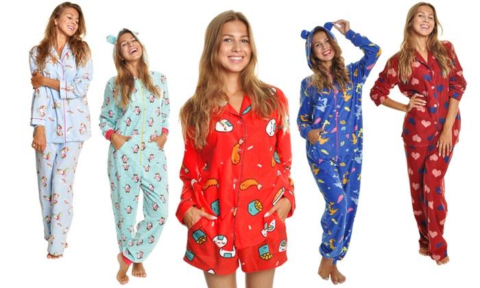 f6c0870591 Angelina Women s Fleece Pajama Sets