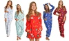Angelina Women's Fleece Pajama Sets, Onesies, and Sleep Bottoms