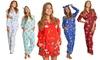 Angelina Women's Fleece Pajama Sets, Onesies, and Sleep Bottoms