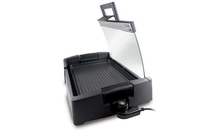Indoor/Outdoor Electric Grill with Glass Lid: Indoor/Outdoor Electric Grill with Glass Lid. Free Shipping and Returns.