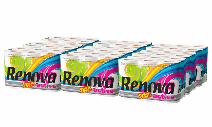 108 Renova Active Two-Ply Toilet Paper Household Rolls