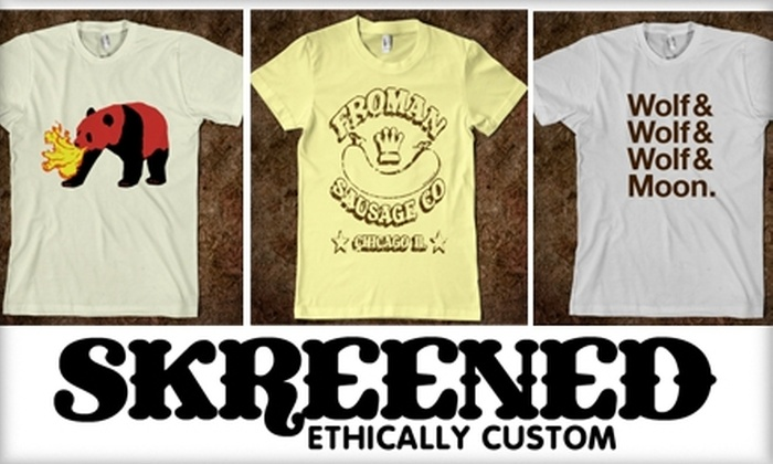 Skreened - Chicago: $15 for $30 Worth of Online, Custom-Designed Clothing at Skreened