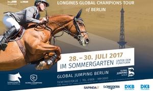 Berlin Equestrian Events GmbH: 2 Tickets für das CSI5* Global Jumping Berlin 2017 im Sommergarten unterm Funkturm (50% sparen)