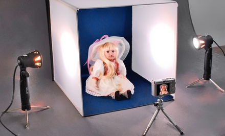Electric Avenue Deluxe Table Top Photo Studio Bundle. Free Returns.