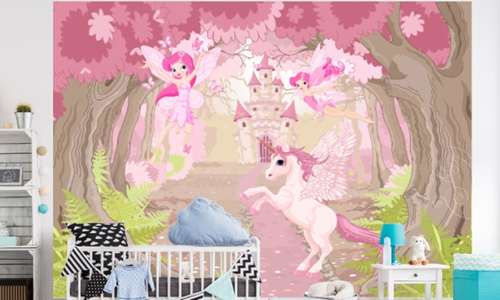 58 off children 39 s wall mural groupon. Black Bedroom Furniture Sets. Home Design Ideas