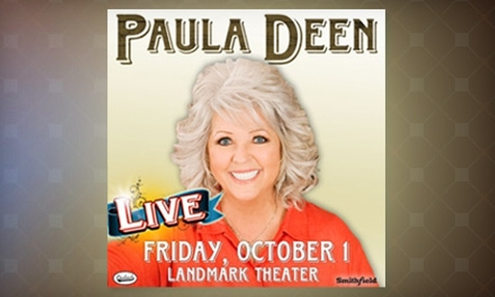 Paula Deen Live - VCU: $34 for One Ticket to Paula Deen Live at the Landmark Theater on Friday, October 1