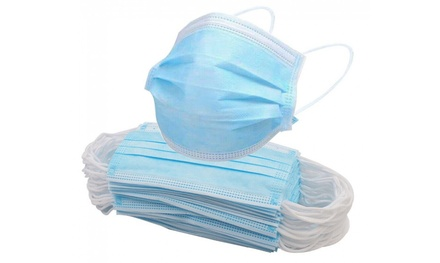 Up to 100Pack of Disposable ThreePly Face Mask