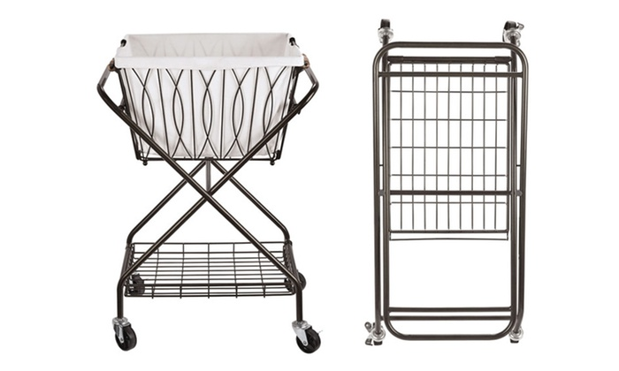 d9b4211f992 Artesia Verona Laundry Cart with Removable Basket