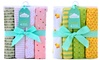 Cuddles & Cribs 100% Cotton Flannel Receiving Blankets (4-Pack)