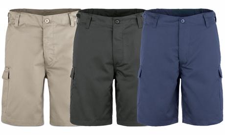 Pantalón corto para hombre con bolsillos laterales