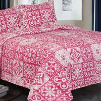 Deals on 3-Piece Reversible Printed Quilt Set