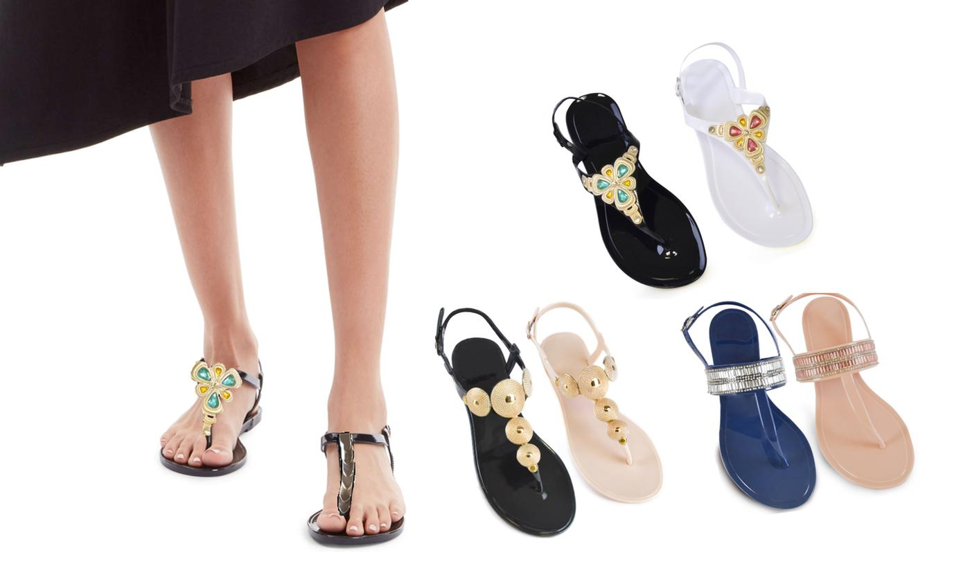 Jewelled Jelly Sandals