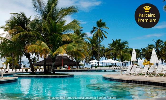 Costa do Sauípe Resorts: 2, 3, 4, 5 ou 7 noites para 2 adultos + 1 criança (opções em feriados) + all inclusive