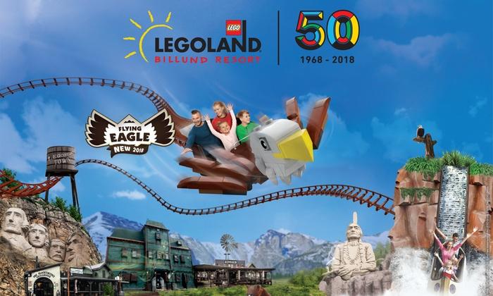 LEGOLAND Billund Resort - LEGOLAND®: Familien-Tagesticket für 3, 4 oder 5 Personen für die Saison 2018 im LEGOLAND® Billund Resort (bis zu 49% sparen*)
