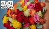 Bon d'achat de 15 € ou 20 € donnant droit à 30 € ou 40 € sur la catégorie Roses du site Les Fleurs de Nicolas