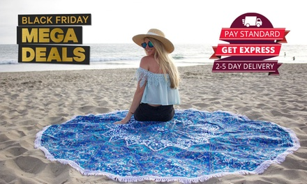 $14for a 350GSM Designer Round Beach Towel (Don't Pay $79)