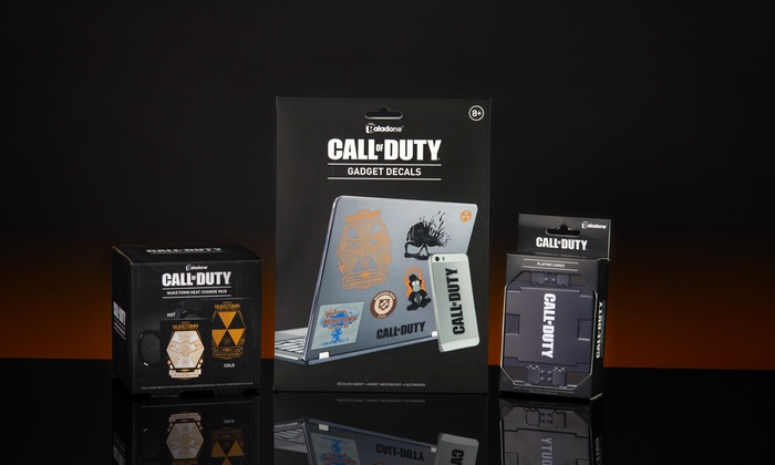 PaladoneCall of Duty Heat Change Mug, Playing Cards andGadget Decals for £12.98