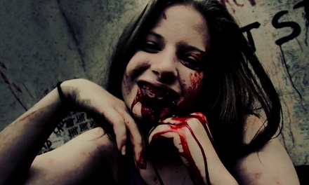 Blood Experience for One, or Original Haunt Admission for One or Two at Halls of Horror (Up to 35% Off)