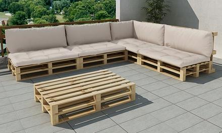 vidaxl salon en palette de bois groupon shopping. Black Bedroom Furniture Sets. Home Design Ideas