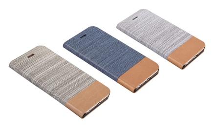 Housse portefeuille de protection pour iPhone 4/4S, 5/5S et 6 ou Samsung S5