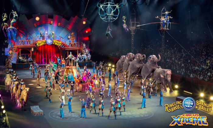 """Ringling Bros. and Barnum & Bailey: """"Circus Xtreme"""" - Multiple Locations: Ringling Bros. and Barnum & Bailey: """"Circus Xtreme"""" July 18–21 (Up to 61% Off)"""