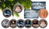 Harry Potter Half Penny Coin Christmas-Ornament Set (6-Piece)