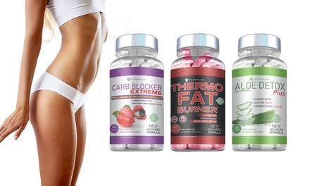 Cure de 2 mois de Trio pour perte de poids, cure detox, nettoyage et stabilisateur de poids à 34,90 € (52% de réduction)