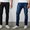 Men's Skinny Fit Washed Denim Jeans