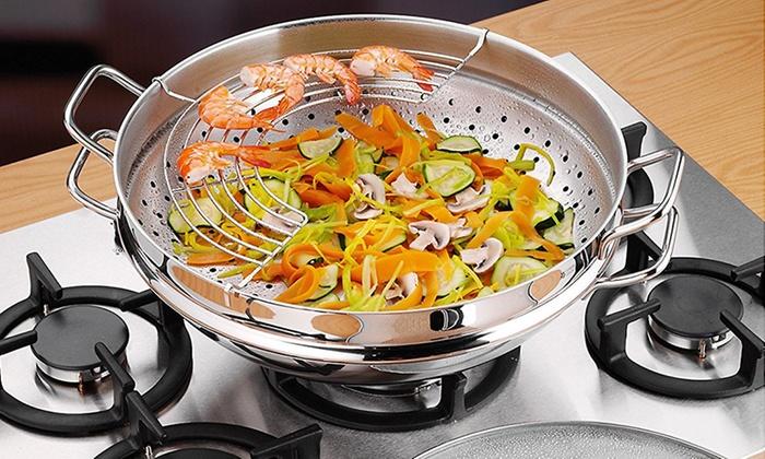 Cestello cottura a vapore tescoma groupon goods - Pentola x cucinare a vapore ...