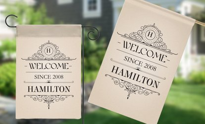 image for Personalized House or Garden Flags from Monogram Online (Up to 80% Off)