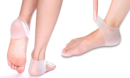 One or Two Silicone Gel Heel and Ankle Sleeve Sets