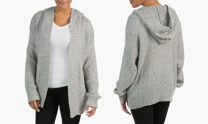 Sociology Women's Oversized Chunky Hooded Cardigan (Size S/M ...