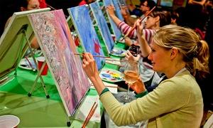 Paint Nite: $275 en vez de $550 por noche de pintura guiada + música + fotos en Paint Nite