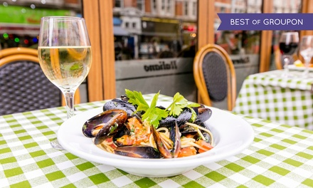 Two- or Three-Course Italian Meal with Prosecco for Two at Amarcord (Up to 50% Off)
