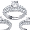 1.00–2.00 CTTW Diamond Ring in 14K White Gold by Brilliant Diamond