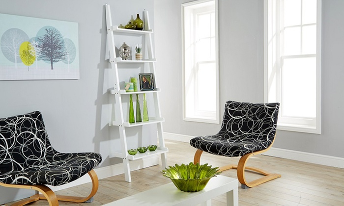 buy popular 88edd e0cd6 Ladder Bookcase/Shelving in a White Matt Finish for £39.98 With Free  Delivery (55% Off)