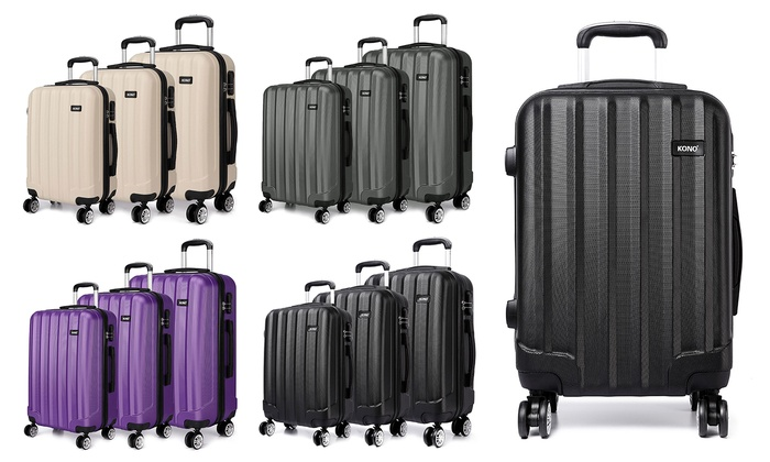 Kono Four Wheels Hard Shell Suitcase