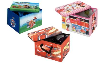 Caja de almacenamiento transformable a estera para jugar Disney