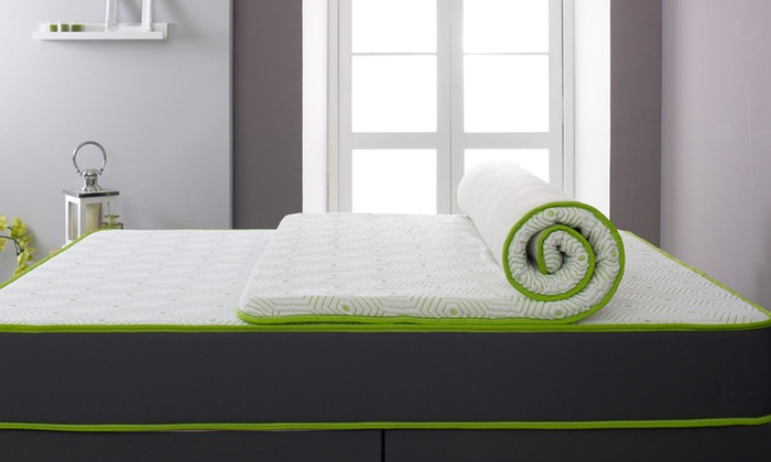 Lime Memory Foam Mattress Topper With Free Delivery for £45