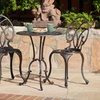 Bronze Aluminum Cast Bistro Table and Chair Set (3-Piece)