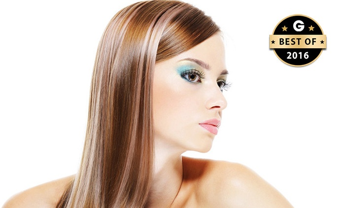 $69 for a Keratin Treatment, or $79 to Add Style Cut and Blow Dry at Hair Link, Two Locations (Up to $298)