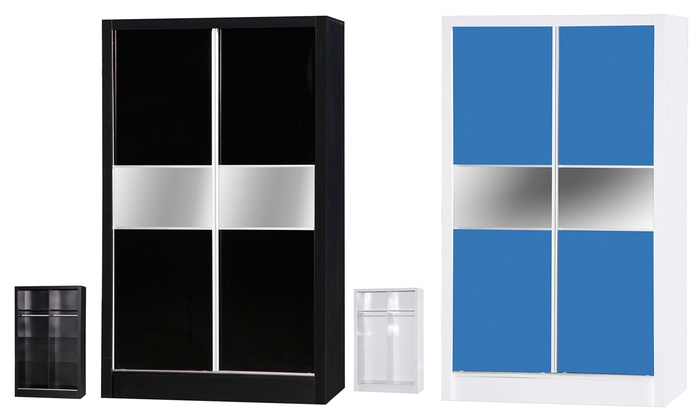 Gloss Two-Door Sliding Wardrobe