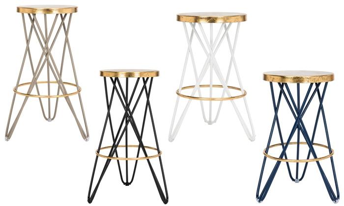 gold counter stools. Safavieh Lorna Gold-Leaf Barstools And Counter Stools Gold O