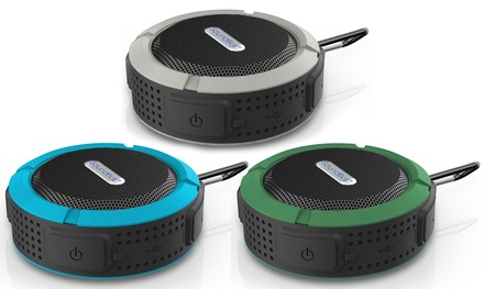 SoundBot SB512 Water- and Shock-Resistant Portable Wireless Bluetooth Shower Speaker