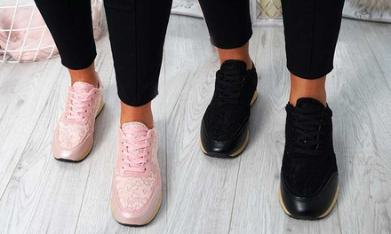 Womens Lace-Up Trainers
